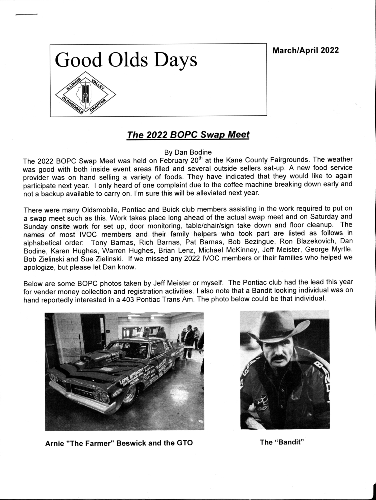 Illinois Valley Oldsmobile Chapter